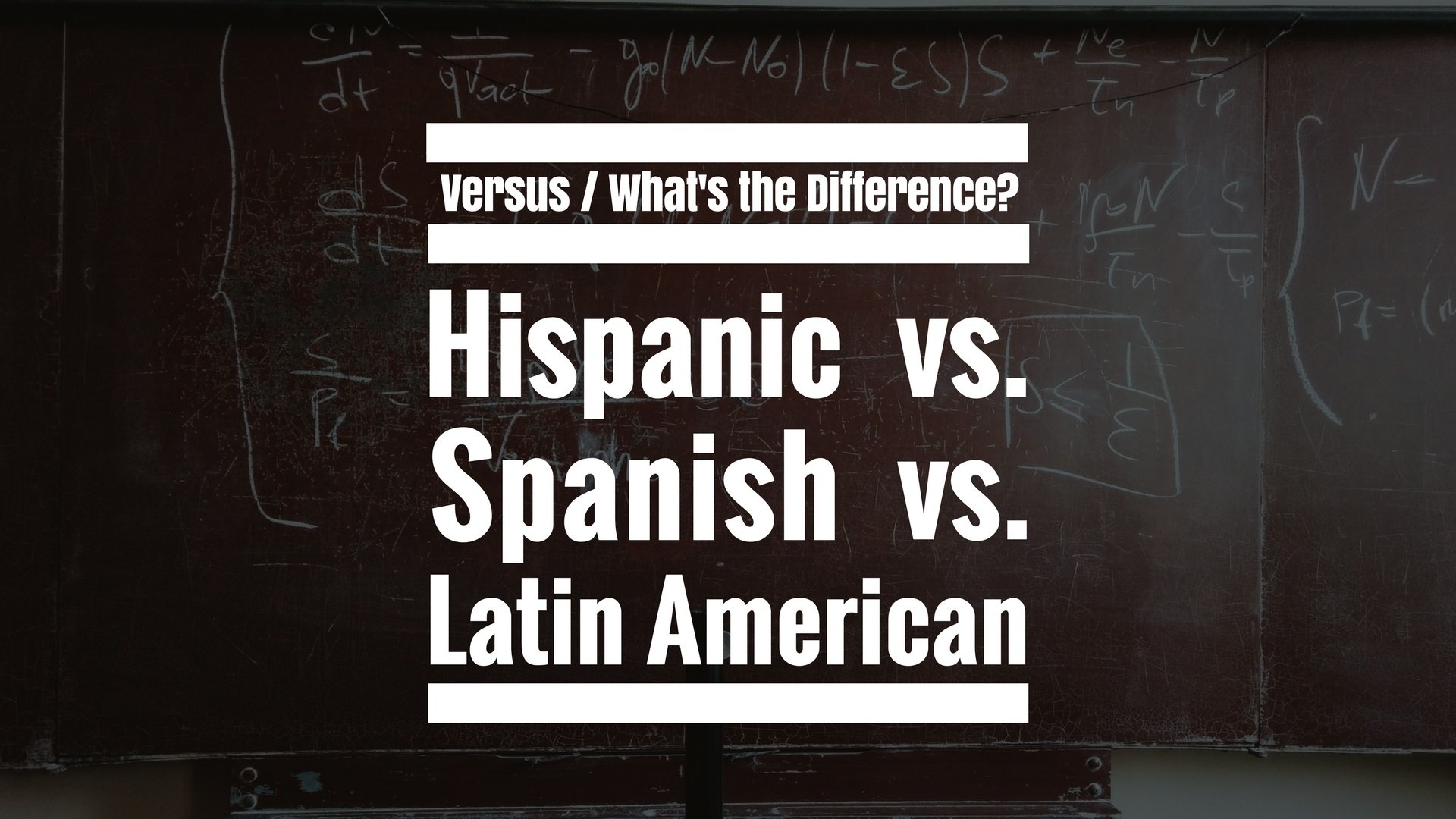 Differences when dating an american and latino